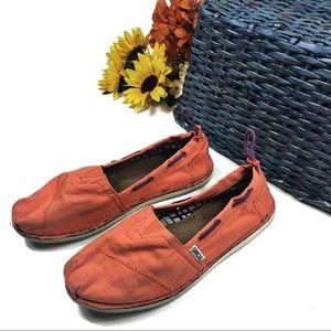 ☕️ 5/$25 TOMs Orange Adjustable Slip On Flats